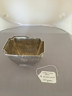 GORGEOUS VICTORIAN SOLID SILVER HANDLED SUGAR BOWL (SHEFFIELD 1887) 197 Grams