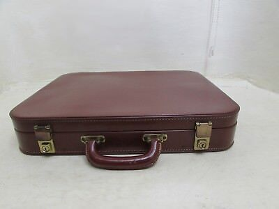Vintage Victor Luggage Cow Hide Travel Case One Night Case For Suit With Key