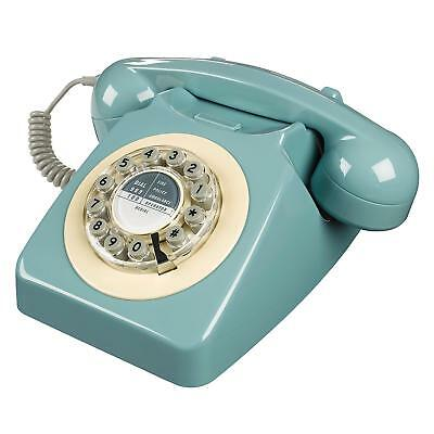 Retro Vintage Corded Push Button Old Dial Style Phone 1960s Desk Table Telephone
