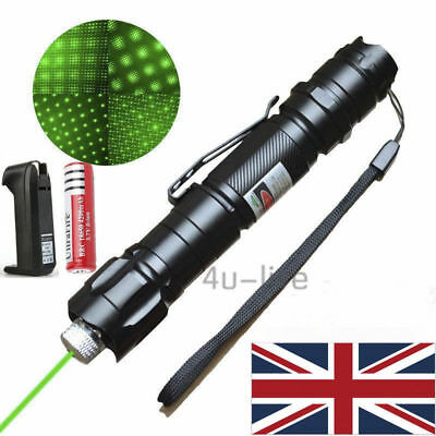 Powerful Green Laser Pointer Lights Pen Lazer Beam Professional 1mw 532nm UK