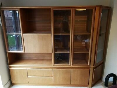 Large Retro Vintage teak effect Sideboard Wall Unit