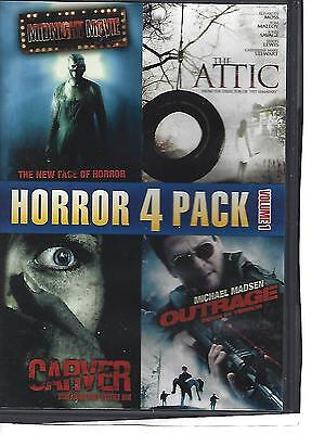 Horror 4 Pack Dvd  -  Midnight Movie + The Attic + Carver + Outrage
