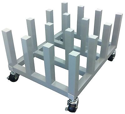 Digital Media Roll,Vinyl Roll, Banner Roll Cart Mobile Rack 16 rolls Heavy Duty