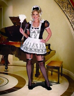 French Maid to Order Adult Womens Dress Costume Dreamgirl Plus Size 1X/2-3X/4X