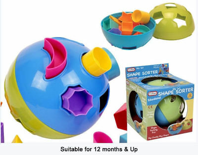 Shape Sorter Ball Fit The Shapes Into The Slots Educational Toy