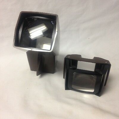 Vintage Gaf Pana-Vue 1 And 3 Lighted And  Folding 2 X 2 Slide Viewers With Boxes