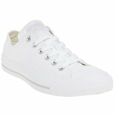 9df38b2dbd8 CONVERSE EYELET PERFORATED High Top Sneaker Natural Women s New In ...