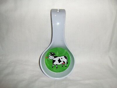 Happy Cow Green Pasture Melamine Spoon Rest