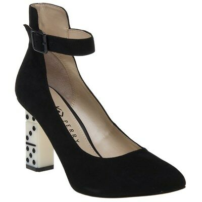 7c9ad1854d8fb9 NEW WOMENS KATY Perry Black Stacie Suede Shoes High Heels Buckle - EUR  154