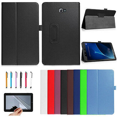 "For Samsung Galaxy Tab A A6 7"" 8"" 10.1"" T580 Various PU Leather Smart Cover Case"