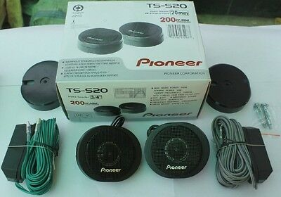 TS-S20 200W PIONEER HIGH POWER Car LOUD  TITANIUM COATED DOME TWEETERS Speaker