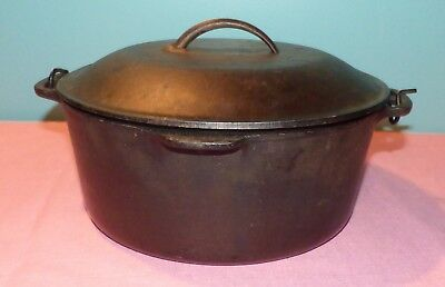Vintage Wagner Ware Cast Iron No 8 Dutch Oven Roaster Sidney -0- 1268 E w/Lid