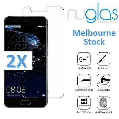 2x NUGLAS GENUINE Tempered Glass Screen Protector For Huawei P10 P10 Plus