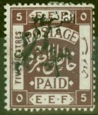 Transjordan 1923 1/2p on 5p SG74a Var Without Surcharge Fine & Fresh Lightly Mtd
