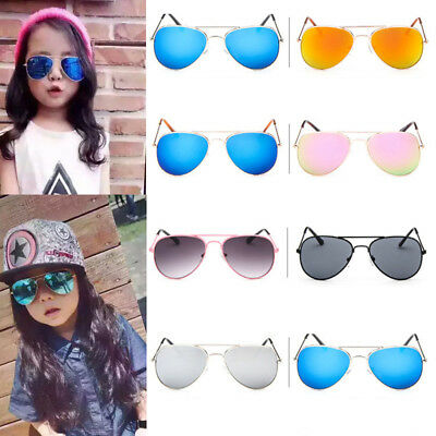 Retro Fashion Children Kids Pilot Sunglasses Eyewear Shades Boys Girls