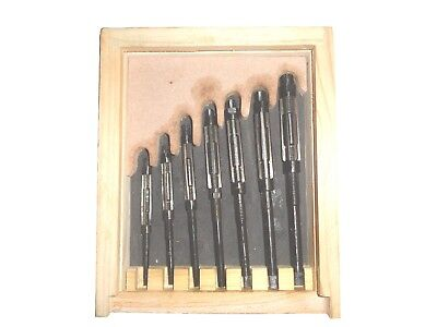 "7pcs Adjustable Hand Reamers, HV to H3,1/4"" to 15/32"" (Fitted in Wooden Case)"