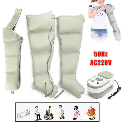 Air Compression Arm Leg Wraps Electric Foot Ankles Circulation Pressure Massage