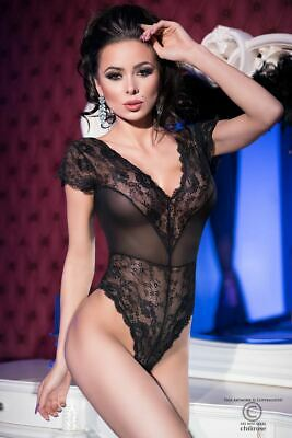 Body In Pizzo Floreale E Tulle Chilirose Cr-4168