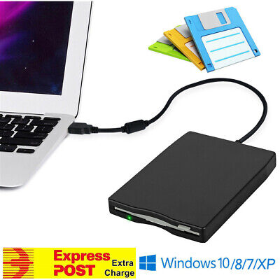 "USB External FDD 3.5"" 1.44MB Diskette Floppy Disk Drive Windows XP/7/10 Mac OS"