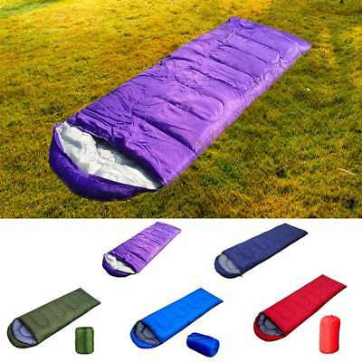 Portable Outdoor Camping Envelope Hooded Adult Sleeping Bag Tent Hiking Thermal