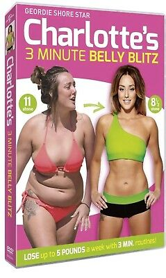 Charlotte Crosby's (Geordie Shore) 3 Min Belly Blitz DVD Fat Weight Loss Workout