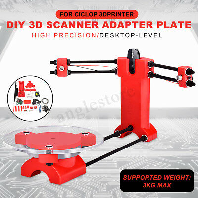 DIY 3D Scanner Open Source Laser Plate Kit w/Adapter Object For Ciclop Printer