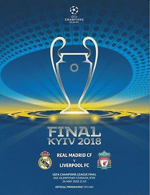 2018 Uefa Champions League Final Liverpool Real Madrid Official Mint Programme