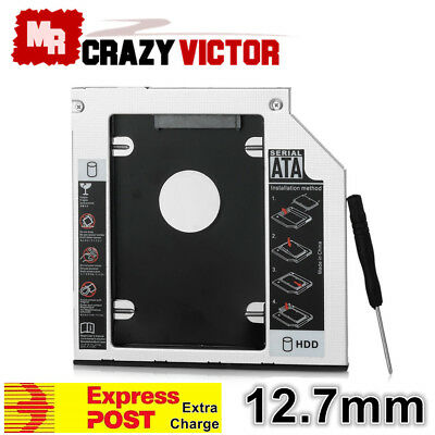 12.7mm Universal SATA 2nd HDD SSD Hard Drive Caddy for CD/DVD-ROM Optical Bay