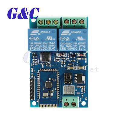 5V 2Channel Bluetooth Relay Module Smart Home Mobile APP Remote Control Switch