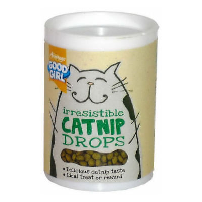 Good Girl Catnip Drops Cat Reward Training Treats With Real Cat Nip 80g Tub