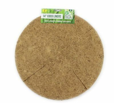 """4 X Hanging Basket Liners Natural Coco Fiber Replacements 14"""" Uk"""