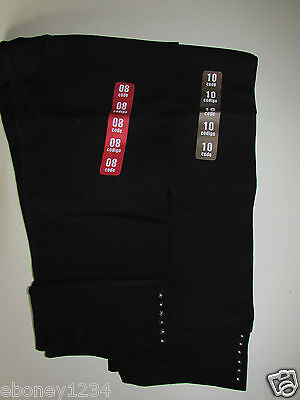 Girls Cropped Leggings Black with Stud Detail  by ZARA  Age 7/8- 9/10 ears New