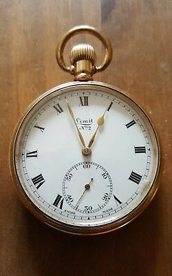 Full Size Vintage Gold Plated Limit No 2 Pocket Watch in GWO