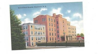 NH Manchester New Hampshire antique post card Sacred Heart Hospital