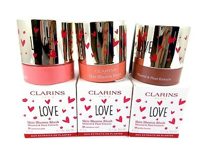 Clarins LOVE Skin Illusion Minerals & Plants Extracts Blush Blusher Full Size