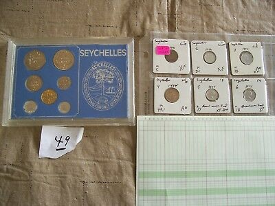 Seychelles 1972 Uncirculated Coin Set Plus + *** Free *** Circulated Coins (6)