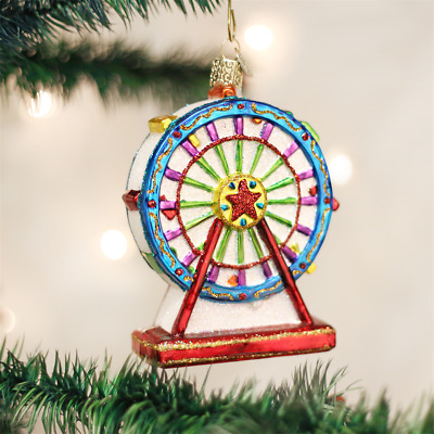 NEW Old World Christmas Ferris Wheel Carnival Fair Glass Ornament 36171