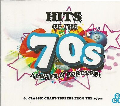 HITS OF THE 70's - Always & Forever - BRAND NEW - 3 CDs