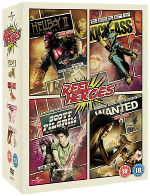 Wanted/Kick-Ass/Scott Pilgrim Vs. the World/Hellboy 2 DVD (2012) Ron Perlman