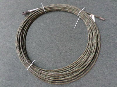 """90' 3/8"""" Steel Cable Thimbled and Terminated Ends"""