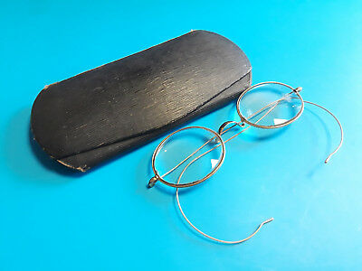 Old Vtg Collectible Wire Rim 1/10 12K Gold Filled Childrens Eye Glasses