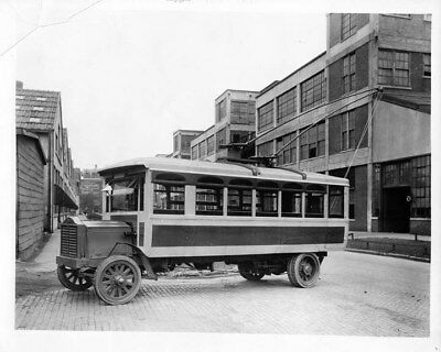 1912 Packard Trolley at Packard Plant ORIGINAL Photo Negative nad1859