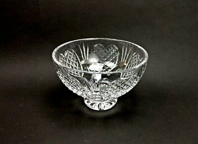Waterford Crystal Wedding Heirloom 8 Footed Bowl Mint Made In Ireland
