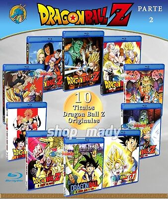 Paq. 10 Movies de Dragon Ball Z Blu-ray en ESPAÑOL LATINO Region Free (Parte 2)
