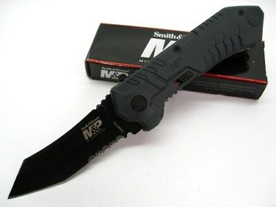Smith & Wesson S&W Assisted M&P Serrated Rescue Glassbreaker Tanto Knife SWMP2BS