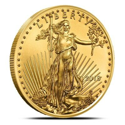 2018 American 1 Oz $50 Gold Eagle Coin - Gem Uncirculated (BU)