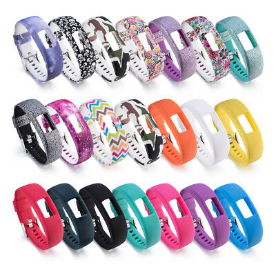 FOR Garmin Vivofit 4 Silicone Bracelet w/ Clasp Replacement Wristband Band Strap