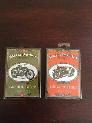 Harley Davidson Motorcycles Historical Playing Cards 1930-1950 & 1903-1920