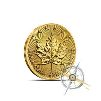 2018 1/10 Troy Oz Canada Gold Maple Leaf Coin .9999 Fine BU Sealed in Plastic