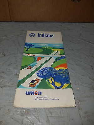 Vintage PURE UNION 76 INDIANA   Road Map